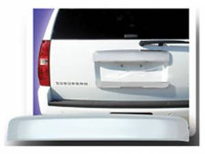 Chrome Trim - License Plate Accents - QAA - Chevrolet Suburban 2007-2014, 4-door, SUV (1 piece Chrome Plated ABS plastic License Bar, Above plate accent Trim Full Face ) LBP47195 QAA