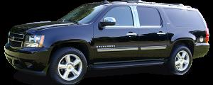 QAA - Chevrolet Suburban 2007-2014, 4-door, SUV (4 piece Stainless Steel Pillar Post Trim ) PP47198 QAA - Image 2