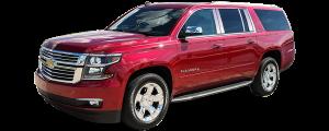 QAA - Chevrolet Suburban 2015-2020, 4-door, SUV (4 piece Stainless Steel Pillar Post Trim ) PP55195 QAA - Image 2