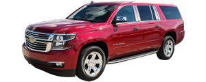 QAA - Chevrolet Suburban 2015-2020, 4-door, SUV (8 piece Stainless Steel Pillar Post Trim ) PP55198 QAA - Image 2