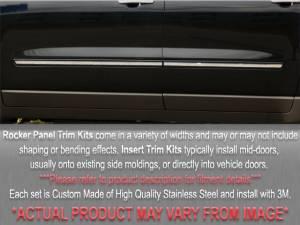 "QAA - Chevrolet Tahoe 1995-1998, 2-door, SUV (8 piece Stainless Steel Rocker Panel Trim, Insert Kit 1.5"" Width Side Molding.) TH35189 QAA - Image 1"