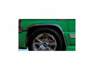 "QAA - Chevrolet Tahoe 2000-2006, 4-door, SUV (4 piece Molded Stainless Steel Wheel Well Fender Trim Molding 2"" Width, No Factory Flares Clip on or screw in installation, Lock Tab and screws, hardware included.) WZ40195 QAA - Image 1"