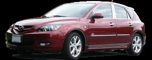 QAA - Mazda Mazda3 2004-2009, 4-door, Hatchback (1 piece Stainless Steel Front Grille Accent Trim ) SG27750 QAA - Image 2
