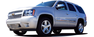 QAA - Chevrolet Tahoe 2007-2014, 4-door, SUV (1 piece Stainless Steel License Plate Bezel ) LP47195 QAA - Image 2
