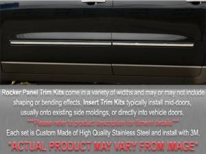"QAA - Chevrolet Tahoe 2009-2014, 4-door, SUV, LT (4 piece Stainless Steel Rocker Panel Trim, Insert Kit 1+(0.8125)"" Width Side Molding.) TH49195 QAA - Image 1"