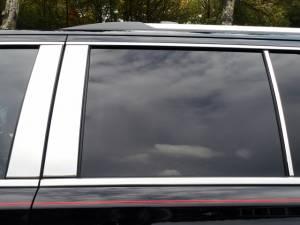 QAA - Chevrolet Tahoe 2015-2020, 4-door, SUV (6 piece Stainless Steel Pillar Post Trim ) PP55196 QAA - Image 1