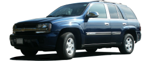 QAA - Chevrolet Trailblazer 2002-2009, 4-door, SUV, does NOT fit XL (6 piece Stainless Steel Pillar Post Trim ) PP42294 QAA - Image 2