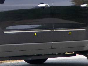 "QAA - Chevrolet Traverse 2009-2017, 4-door, SUV (4 piece Stainless Steel Rocker Panel Trim, Insert Kit 0.75"" Width, Cut Long, No ""GM"" Logo, No ""TRAVERSE"" Side Molding.) TH49167 QAA - Image 1"
