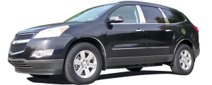 QAA - Chevrolet Traverse 2009-2017, 4-door, SUV (6 piece Stainless Steel Wheel Well Accent Trim With 3M adhesive installation and black rubber gasket edging.) WQ49165 QAA - Image 2