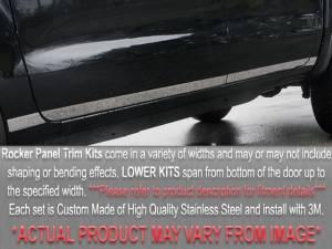 "QAA - Chevrolet Venture 1997-2003, 3-door, Minivan (7 piece Stainless Steel Rocker Panel Trim, Lower Kit 5"" Width Spans from the bottom of the door UP to the specified width.) TH37172 QAA - Image 1"