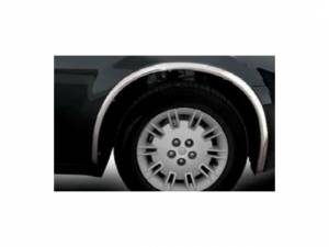 QAA - Chrysler 300 2005-2010, 4-door, Sedan (4 piece Molded Stainless Steel Wheel Well Fender Trim Molding Clip on or screw in installation, Lock Tab and screws, hardware included.) WZ45766 QAA - Image 1