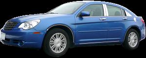 QAA - Chrysler 200 2011-2014, 4-door, Sedan (4 piece Stainless Steel Pillar Post Trim ) PP47780 QAA - Image 2