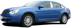 QAA - Chrysler 200 2011-2014, 4-door, Sedan (6 piece Stainless Steel Pillar Post Trim ) PP47781 QAA - Image 2