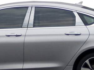 QAA - Chrysler 200 2015-2017, 4-door, Sedan (6 piece Stainless Steel Pillar Post Trim ) PP55781 QAA - Image 1