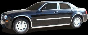 QAA - Chrysler 300 2005-2009, 4-door, Sedan, Base Model ONLY (2 piece Stainless Steel Bumper Cap Trim Accent Front ) BC45760 QAA - Image 2