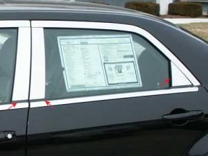 QAA - Chrysler 300 2005-2010, 4-door, Sedan (6 piece Stainless Steel Pillar Post Trim ) PP45761 QAA - Image 1