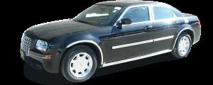 QAA - Chrysler 300 2005-2010, 4-door, Sedan, Base Model ONLY (3 piece Stainless Steel Rear Bumper Trim Accent ) RB45760 QAA - Image 3