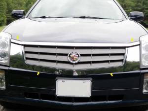 QAA - Cadillac SRX 2004-2009, 4-door, SUV (4 piece Stainless Steel Front Grille Accent Trim Does not work for models w/ headlight washers ) SG44260 QAA - Image 1