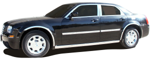 QAA - Chrysler 300 2005-2010, 4-door, Sedan, Base Model ONLY (10 piece Stainless Steel Window Trim Package Includes Upper Trim and Pillar Posts, NO Window Sills ) WP45760 QAA - Image 2