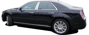 QAA - Chrysler 300 2011-2020, 4-door, Sedan (8 piece Chrome Plated ABS plastic Door Handle Cover Kit Includes smart key access ) DH51760 QAA - Image 2