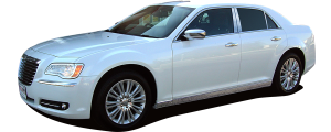 QAA - Chrysler 300 2011-2020, 4-door, Sedan (4 piece Stainless Steel Pillar Post Trim ) PP51760 QAA - Image 3