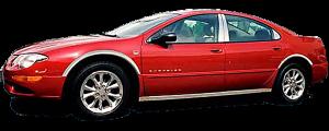 QAA - Chrysler 300M 1999-2004, 4-door, Sedan (4 piece Stainless Steel Pillar Post Trim ) PP39760 QAA - Image 2