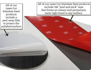 "QAA - Chrysler Concorde 1996-1997, 4-door, Sedan (8 piece Stainless Steel Rocker Panel Trim, Upper Kit 3.625"" Width Spans from the bottom of the molding DOWN to the specified width.) TH36740 QAA - Image 3"