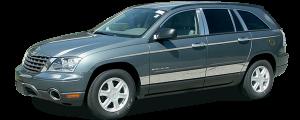QAA - Chrysler Pacifica 2004-2008, 4-door, SUV (4 piece Stainless Steel Pillar Post Trim ) PP44750 QAA - Image 2
