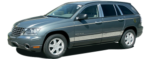 """QAA - Chrysler Pacifica 2004-2008, 4-door, SUV (8 piece Stainless Steel Rocker Panel Trim, Lower Kit 6.625"""" - 7.5"""" tapered Width Spans from the bottom of the door UP to the specified width.) TH44751 QAA - Image 2"""