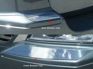 QAA - Chrysler Pacifica 2007-2008, 4-door, SUV (4 piece Stainless Steel Bumper Cap Trim Accent Front and Rear ) BC47750 QAA - Image 1