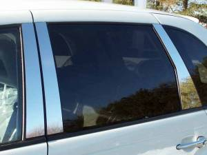 QAA - Chrysler PT Cruiser 2001-2002, 4-door, Hatchback (6 piece Stainless Steel Pillar Post Trim ) PP41701 QAA - Image 1