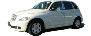 QAA - Chrysler PT Cruiser 2001-2010, 4-door, Hatchback (4 piece Molded Stainless Steel Wheel Well Fender Trim Molding Clip on or screw in installation, Lock Tab and screws, hardware included.) WZ41700 QAA - Image 2