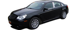 QAA - Chrysler Sebring 2007-2010, 4-door, Sedan (8 piece Chrome Plated ABS plastic Door Handle Cover Kit ) DH45760 QAA - Image 2