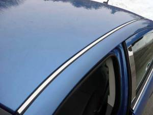 Chrome Trim - Roof Accents - QAA - Chrysler Sebring 2007-2010, 4-door, Sedan (2 piece Stainless Steel Roof Insert Trim ) RI47780 QAA