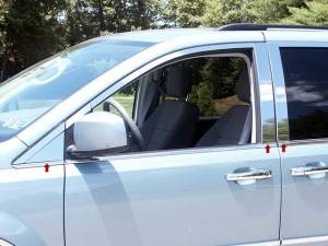 QAA - Chrysler Town & Country 2008-2016, 4-door, Minivan (6 piece Stainless Steel Pillar Post Trim ) PP48896 QAA - Image 1