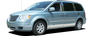 """QAA - Chrysler Town & Country 2008-2016, 4-door, Minivan (8 piece Stainless Steel Rocker Panel Trim, Lower Kit 5.5"""" Width, cut back to flare Spans from the bottom of the door UP to the specified width.) TH48895 QAA - Image 2"""