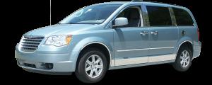 QAA - Chrysler Town & Country 2008-2016, 4-door, Minivan (16 piece Stainless Steel Window Trim Package Includes Upper Trim and Pillar Posts, NO Window Sills ) WP48895 QAA - Image 2
