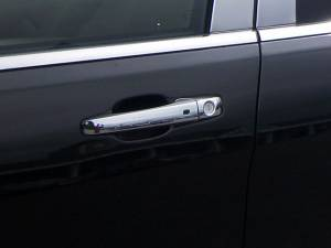 QAA - Chrysler Town & Country 2012-2016, 4-door, Minivan (8 piece Chrome Plated ABS plastic Door Handle Cover Kit Includes two smart key access points, Does NOT include passenger key access ) DH51081 QAA - Image 1