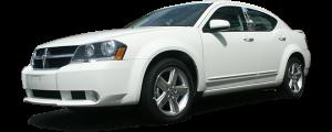 QAA - Dodge Avenger 2008-2014, 4-door, Sedan (4 piece Stainless Steel Pillar Post Trim ) PP47916 QAA - Image 2