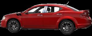 QAA - Dodge Avenger 2008-2014, 4-door, Sedan (4 piece Stainless Steel Pillar Post Trim ) PP47916 QAA - Image 3