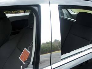 QAA - Dodge Caliber 2007-2012, 4-door, Hatchback (4 piece Stainless Steel Pillar Post Trim ) PP47950 QAA - Image 1