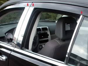 QAA - Dodge Caliber 2007-2012, 4-door, Hatchback (6 piece Stainless Steel Pillar Post Trim ) PP47951 QAA - Image 1