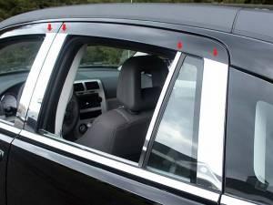 QAA - Dodge Caliber 2007-2012, 4-door, Hatchback (8 piece Stainless Steel Pillar Post Trim ) PP47952 QAA - Image 1