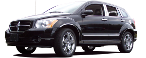 QAA - Dodge Caliber 2007-2012, 4-door, Hatchback (6 piece Stainless Steel Wheel Well Accent Trim With 3M adhesive installation and black rubber gasket edging.) WQ47950 QAA - Image 2