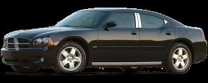 QAA - Dodge Charger 2006-2010, 4-door, Sedan (2 piece Chrome Plated ABS plastic Mirror Cover Set For non-painted mirror ) MC45765 QAA - Image 2