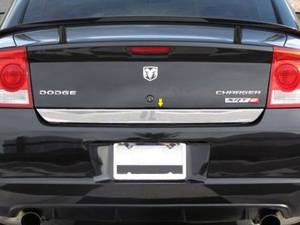 "Chrome Trim - Trunk Lid Accents - QAA - Dodge Charger 2006-2010, 4-door, Sedan (1 piece Stainless Steel Rear Deck Trim, Trunk Lid Accent 2.375"" Width ) RD46910 QAA"