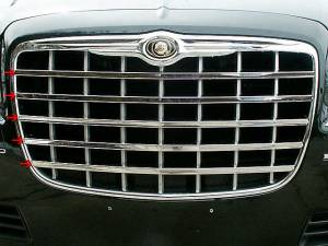 Chrome Trim - Grille Accents - QAA - Chrysler 300 2005-2005, 4-door, Sedan (5 piece Stainless Steel Front Grille Accent Trim ) SG45760 QAA