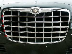 QAA - Chrysler 300 2005-2005, 4-door, Sedan (5 piece Stainless Steel Front Grille Accent Trim ) SG45760 QAA - Image 1