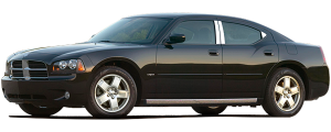 QAA - Dodge Charger 2008-2010, 4-door, Sedan (1 piece Stainless Steel Gas Door Cover Trim Warning: This is NOT a replacement cap. You MUST have existing gas door to install this piece With notch for finger grip contour) GC48910 QAA - Image 2