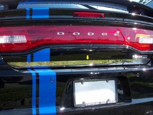 "Chrome Trim - Trunk Lid Accents - QAA - Dodge Charger 2011-2020, 4-door, Sedan (1 piece Stainless Steel Rear Deck Trim, Trunk Lid Accent 1.375"" Width ) RD51910 QAA"